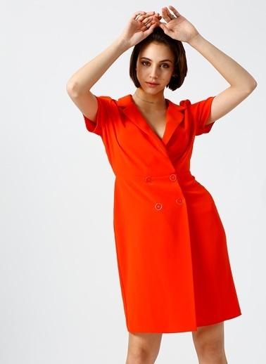 Random Ceket Elbise Oranj